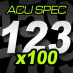 12cm (120mm) Race Numbers ACU SPEC - 100 pack
